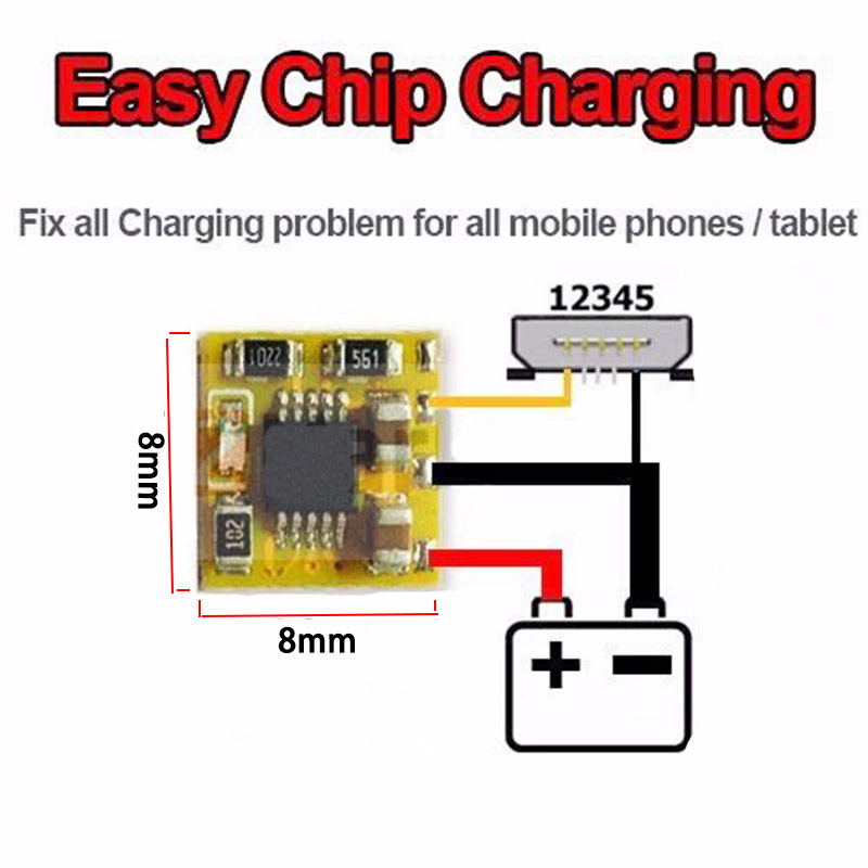 Easy Charge Chip - Bypass Faulty Charging IC to Charge up Battery