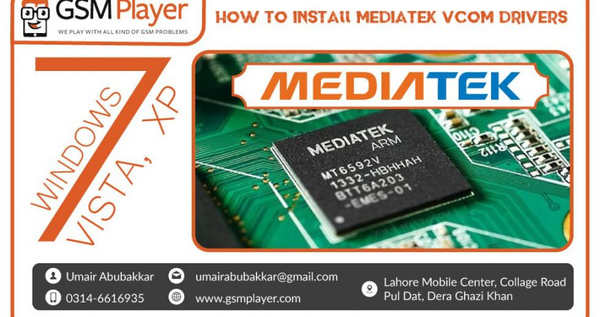 How to install MTK65XX Preloader USB VCom Drivers in Windows 7, XP and Vista