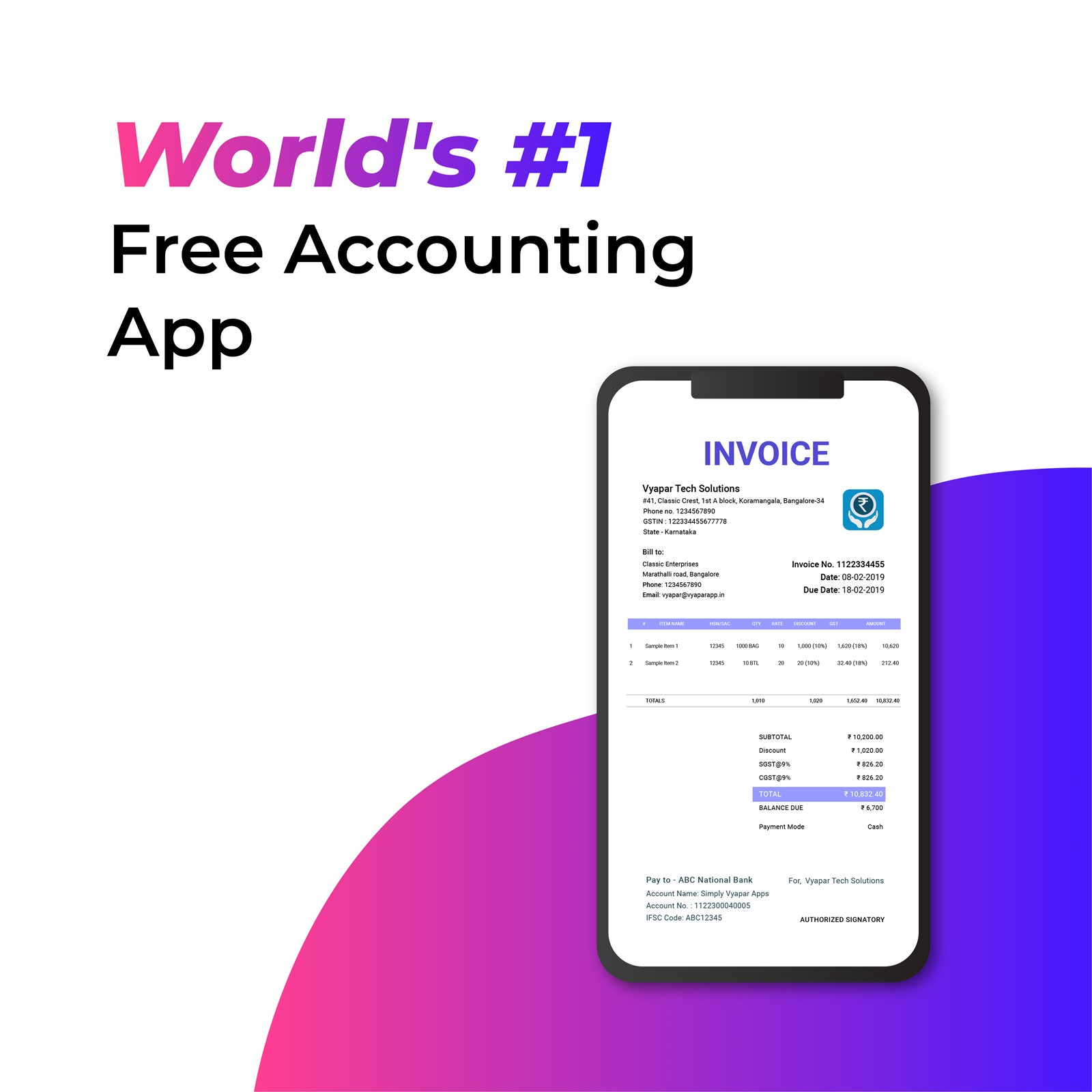 Vyapar Accounting Software – Android License